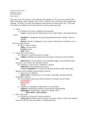 Health- Exam 2 Study Guide
