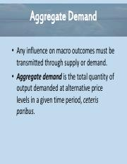 Essential of Economics Chapter 11 - Aggregate Supply and Demand Powerpoint