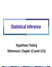 Week 9 Hypothesis Testing One Distribution.pptx