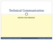 TechComm, Lecture 24 - Editing for Emphasis