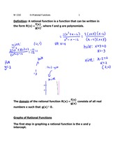 Lecture 4.4 on Rational Functions