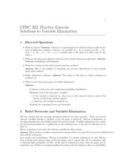 CPSC 322 Fall 2010 Excercise Worksheet 11 Solutions