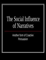 The Social Influence of Narratives.ppt