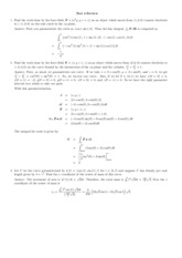 Line Integral Review