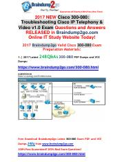 [2017-Aug]Braindump2go New 300-080 Dumps VCE and 300-080 Dumps PDF 248q for Free(38-51).pdf