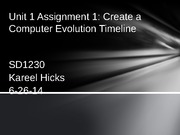 Unit 1 Assignment 1 Create a Computer Evolution Timeline