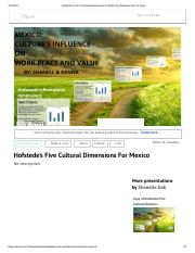 Hofstede's Five Cultural Dimensions For Mexico by Shanelle Goh on Prezi.pdf