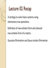 Lecture 03 (till end of Chapter 1)