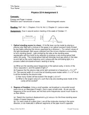 Phys 2214 Assignment 5 2011