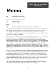 interoffice memo for bshs 305 tarasoff case Bshs 305 is a online tutorial store we bshs 305 week 4 individual assignment interoffice memo  home my  you have just learned of the ruling in the case, tarasoff v.