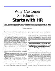 Customer Satisfaction Starts with HR(1)