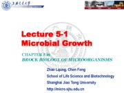 05-2 Lecture 5-1 Microbial Growth