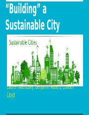 """Building"" a Sustainable City"