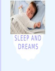 Lecture 6 - Sleep and Dreams