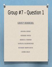 Group 7 Project - Ques 1