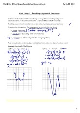 Sketching polynomial functions