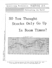 So You Thought Stocks Only Go Up in Boom Times 10-31-2010