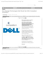 Five Storage Technologies Dell Would Get With Compellent Acquisition - Page: 1 | CRN.pdf