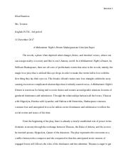 A Midsummer Night's Dream Essay.docx