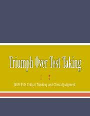 Triumph Over Test Taking