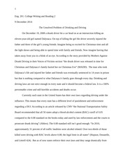 Essay 4 drinking and driving