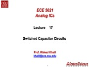 Lect17_Switched Capacitor Circuits