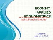 10_Stochastic Regressors & Measurement Errors