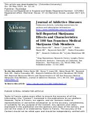 Clinical-MedMU_Harris - Self-Reported Marijuana Effects and Characteristics of 100 San Francisco Med