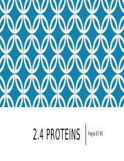 2.4 Proteins