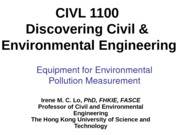 CIVL+1100-Equipment+for+Environmental+Pollution+Measurement