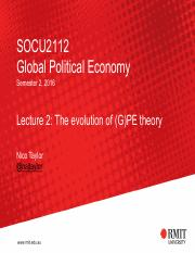Lecture 2 - The evolution of (G)PE theory