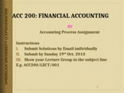 Accounting Process Assignment