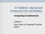Computing Fundamentals Lesson 02
