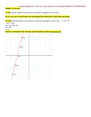 MODULE 5 EXERCISES-MATH 121