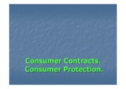 Consumer Contracts and Consumer Protection