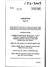 (www.entrance-exam.net)-Civil Services Examination Chemistry (Paper II) Sample Paper 3