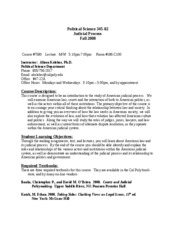PS 345-02 Fall 08 Syllabus
