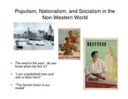 Lecture 9 Populism, Nationalism, and Socialism in the Non-Western World pdf version