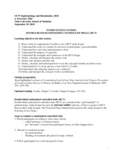 Epidemiology and Biostatistics Lecture Notes  6