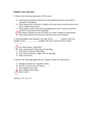 COMM 371 - Lectures 12&13 - Practice Questions & Answers