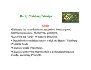 Hardy-Weinberg Principal_1-lecture handout (Population Genetics)