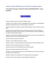 Liberty University THEO 104 quiz 1,2,3,4,5,6,7,8 complete solutions