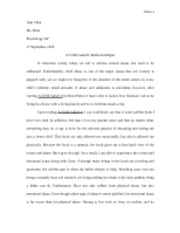 What Is Business Ethics Essay  Pages A Child Called It Reflection Paper Essay With Thesis Statement Example also Argumentative Essay Proposal A Child Called It Reflection Paper  Chen  Sam Chen Ms Dritz  Learn English Essay