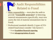 Chapter #4 PPT (Fraud and Illegal Acts)