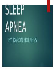 SLEEP APNEA - By Karon Holness.pptx