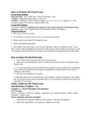 Study Guide for the Final Exam SEC03