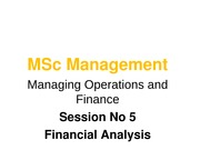 Session 5 Financial Analysis