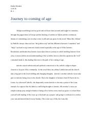 Journey to coming of age.docx
