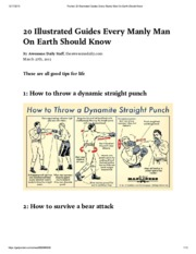 Pocket_ 20 Illustrated Guides Every Manly Man On Earth Should Know