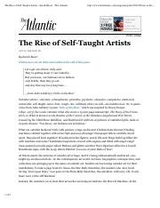 The Rise of Self-Taught Artists - Sarah Boxer - The Atlantic